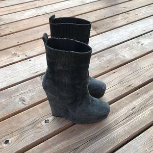Worn - Balenciaga Wedge Platform Calf Height Boots